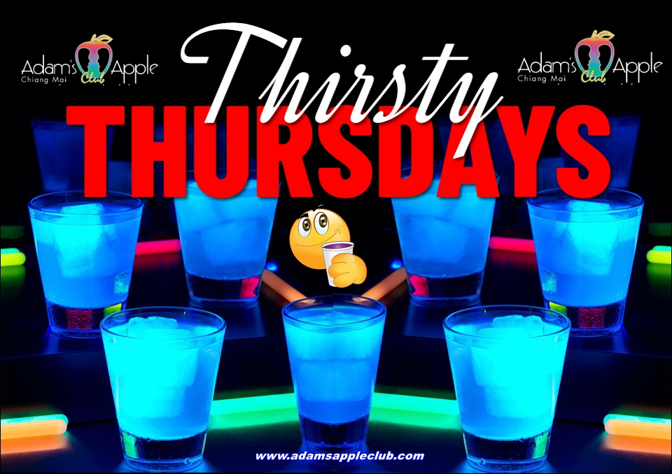 Thirsty Thursday Adams Apple Club Host Bar Chiang Mai