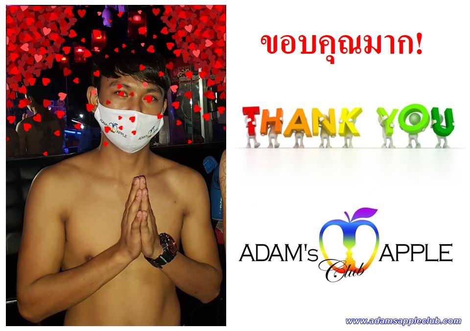 ขอบคุณมาก! Gratitude Adam's Apple Club Chiang Mai Most well-reputed Gay Bar Chiang Mai, Thailand