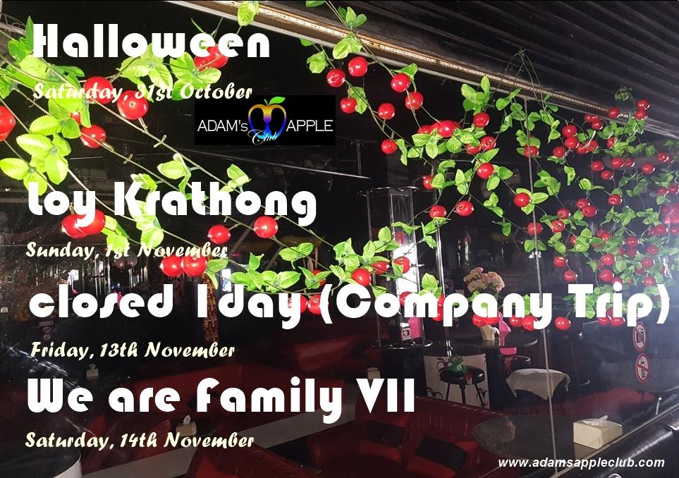 HIGHLIGHTS October / November 2020 in Adams Apple Club Chiang Mai
