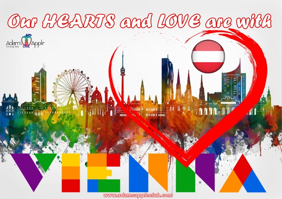 Our thoughts are with VIENNA Our hearts and love are with VIENNA No one can take our freedom!!! We stand together side by side with all Viennese
