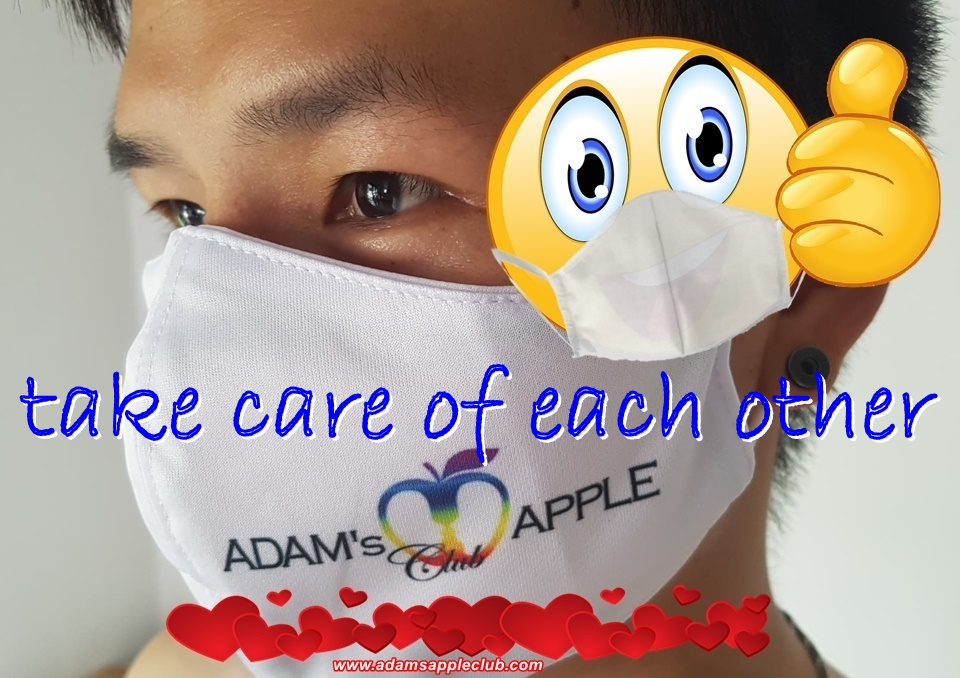 Be safe wear a MASK! STOP the Spread! Adams Apple Club Chiang Mai Nightclub Adultentertainment