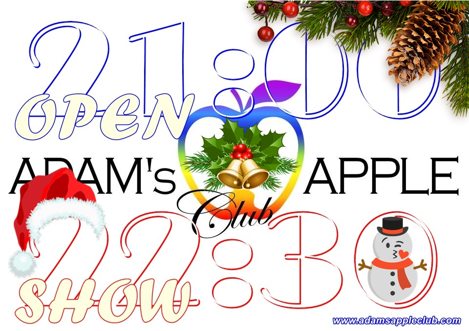 Christmas time with us at Adam's Apple Club in Chiang Mai Adult Entertainment