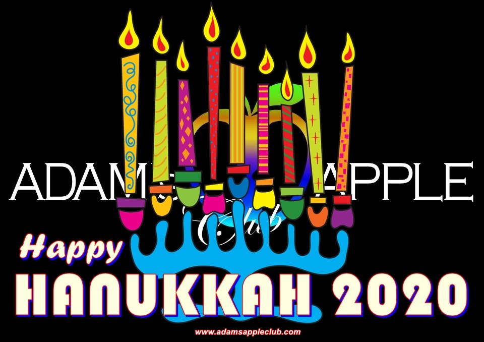 Happy HANUKKAH 2020 Adams Apple Club Chiang Mai to all our friends all over the world! Adult Entertainment Chiang Mai Nightclub Gay Host Bar