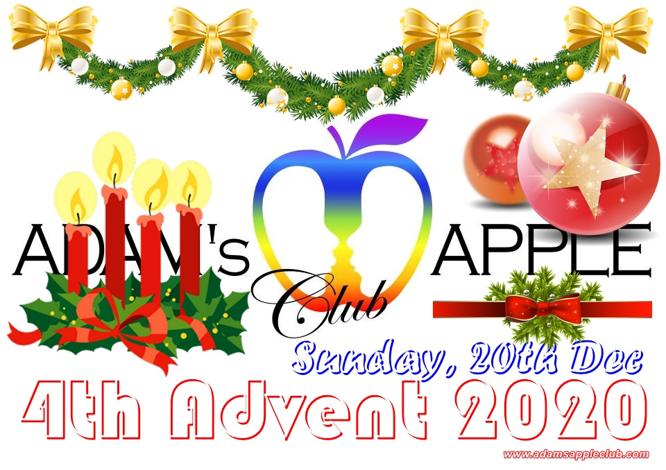 4th ADVENT 2020 celebrate with us at Adams Apple Club Adult Entertainment Chiang Mai Gay Bar and Host Club men entertain men