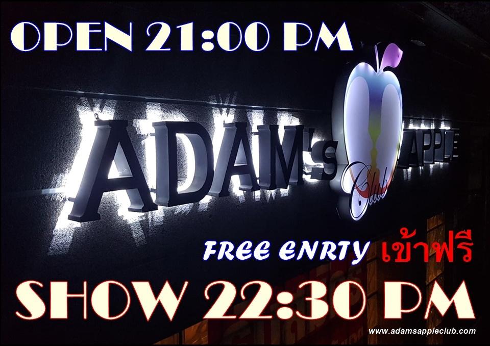 บาร์เกย์เชียงใหม่ ยินดีต้อนรับสู่อดัมส์แอ๊ปเปิ้ลครับ Adams Apple Club Adult Entertainment Chiang Mai Go Go Bar Host Bar Ladyboy Cabaret