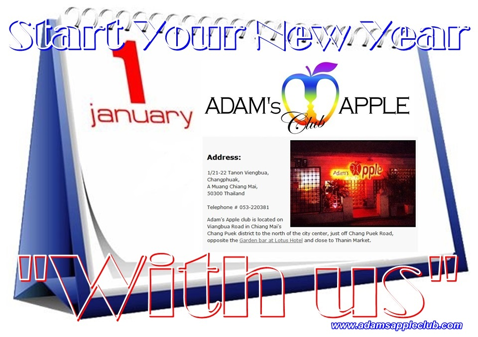 Start with us in 2021 Bar Gay Adams Apple Club Chiang Mai บาร์โฮสสันติธรรม บาร์เกย์เชียงใหม่ Adult Entertainment Men entertain Men Ladyboy Show