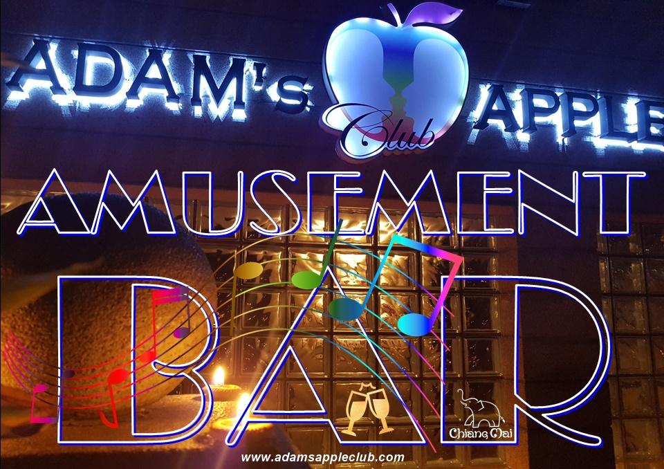 AMUSEMENT Bar in Chiang Mai Adams Apple Club Adult Entertainment, men entertain men Spotlight Bar pure pleasure Nightclub Ladyboy Liveshow Host Gay Bar