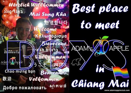 Best place to meet BOYS in Chiang Mai Bar Gay Adams Apple Club