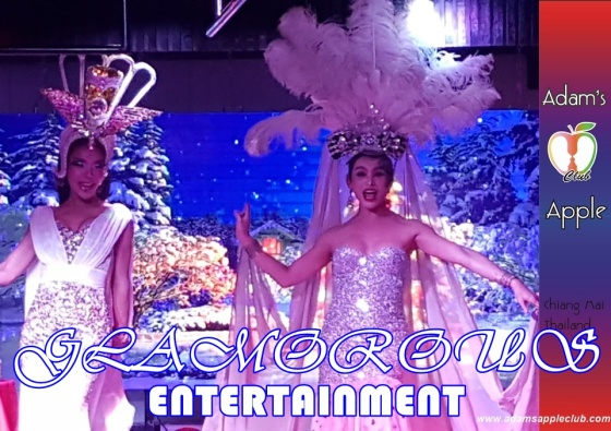 GLAMOROUS ENTERTAINMENT Nightclub Chiang Mai with Ladyboy Liveshows and Cabaret Performance Host Gay Bar in the North of Thailand Thai Boys