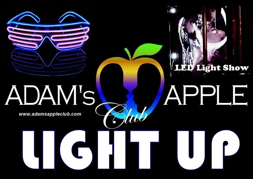 LIGHT UP LED SHOW Adams Apple Club Chiang Mai Bar Gay Asian Boys Ladyboys with Live Performance Nightclub Host Bar LGBTQ Adult Entertainment Thai Boys