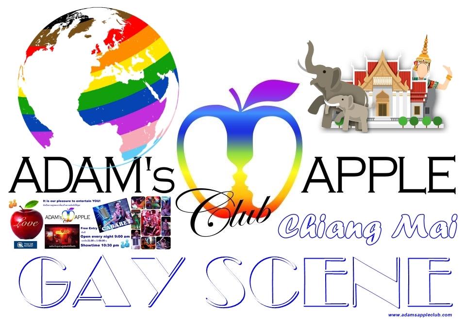 GAY SCENE Chiang Mai GAY LIFE Adams Apple Club Adult Entertainment Nightlife with Ladyboy Liveshow Asian Boys Host Bar Gay Club Go-Go Boy LGBTQ