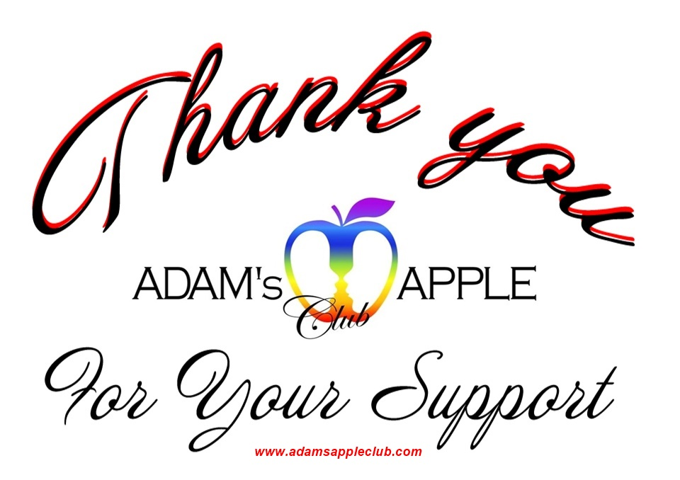 Thank You for Your support Adams Apple Club Chiang Mai Adult Entertainment Nightclub Ladyboy Live Shows Asian Boys Nightlife Host Bar Gay Club