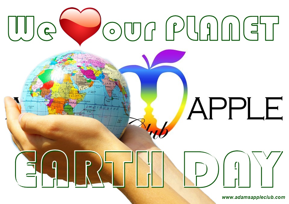 Earth Day 2021 - We love our planet Adams Apple Gay Club Chiang Mai Host Bar Adult Entertainment Nightclub Ladyboy Liveshow Asian Boys Go-Go Bar