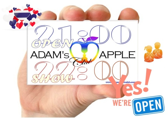 YES we are OPEN Adam's Apple Club Chiang Mai Nightclub Gay Bar We're still here for YOU Adult Male Entertainment men entertain men Go-Go Bar Gay Life LGBTQ