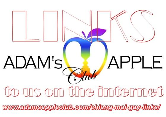 LINKS to us on the internet Gay Bar Chiang Mai Adams Apple Club Nightclub Host Bar Adult Entertainment Social Media Go-Go Bar บาร์โฮสสันติธรรม