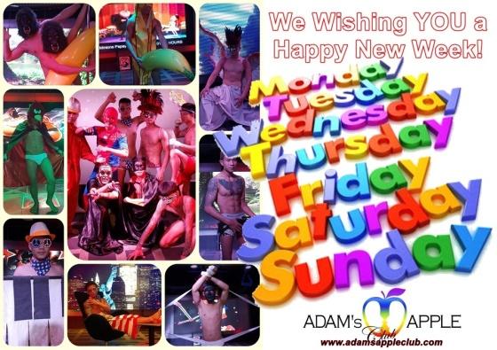We Wishing YOU a Happy New Week! Adams Apple Club Chiang Mai Adult Entertainment Host Bar Gay Club Adult Entertainment Ladyboy Cabaret Go-Go Bar